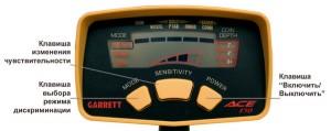 приборная панель Garrett Ace 150